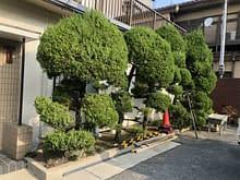 モダンなブロック塀にリニューアル 外構工事 大阪市施工前