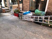 松原市 カフェ店舗 植栽花壇 ヴィンテージレンガ使用 フラワー花壇施工前