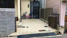 大阪市 住吉区 シャッターガレージ設置工事 カーポート設置工事施工前