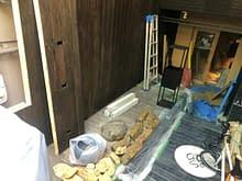 大阪市 中央区 新規店舗 庭作り施工前