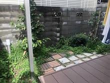 大阪市都島区 庭工事 植栽 施工前