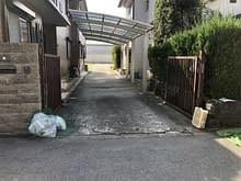 大阪市平野区 ガレージ門扉 玄関門扉 施工施工前