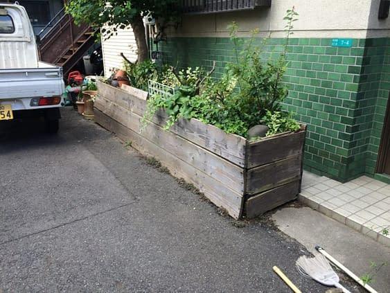 住吉区のO様花壇改修工事施工前