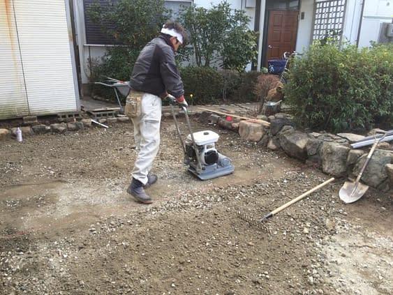 交野市ガレージ施工改修工事