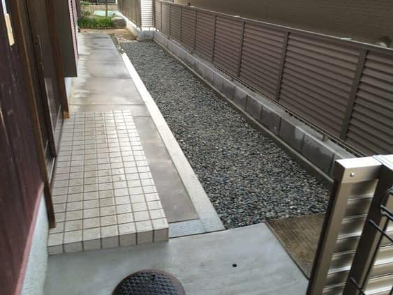 大阪府和泉市 外構工事施工後
