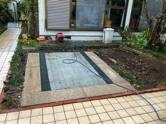 大阪市住吉区 K様邸 ガレージ改修工事 カーポート設置工事施工前
