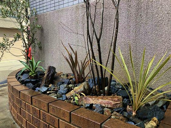 大阪市中央区 伐採 庭作り
