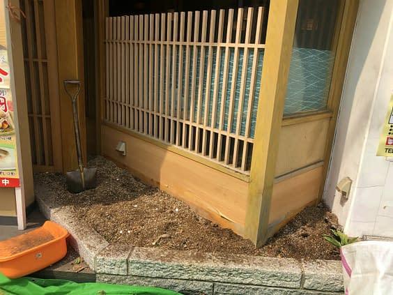 兵庫県神戸市 老舗店舗 坪庭施工施工前