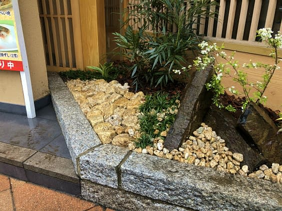 兵庫県神戸市 老舗店舗 坪庭施工