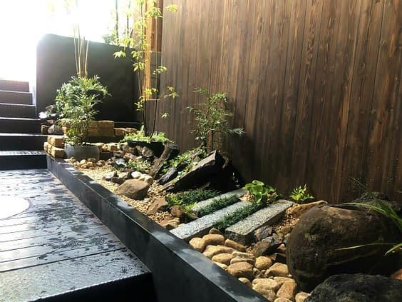 大阪市 中央区 新規店舗 庭作り
