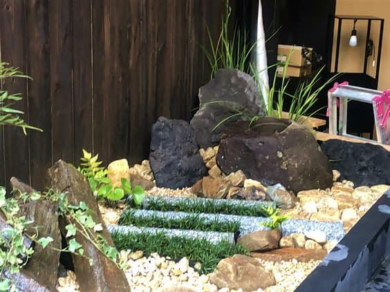 大阪市 中央区 新規店舗 庭作り施工後