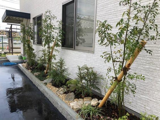 京都市伏見区 H会社様 色彩花壇施工施工後