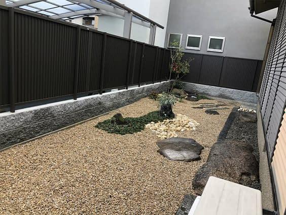 枯山水の庭づくり施工後