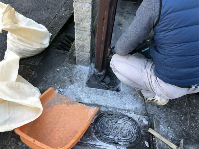 大阪市平野区 エクステリア工事 ガレージ門扉 玄関門扉 交換の画像